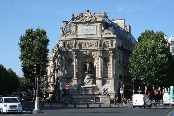 фонтан архангела михаила париж (700x466, 83Kb)