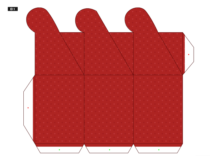 Подарочная коробка своими руками из картона шаблон