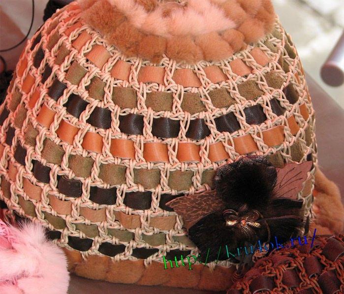 вязание кожа и мех<br />