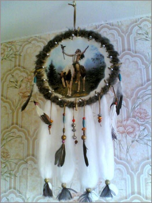 Ловец снов - красивый индейский амулет 7 (525x700, 379Kb)