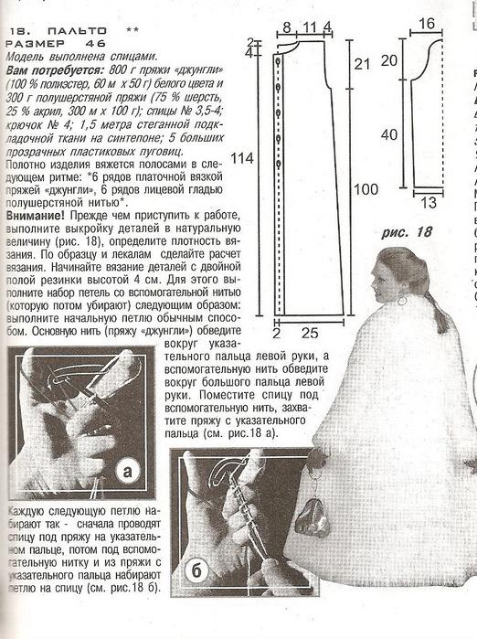 Шубка из травки спицами схема и описание
