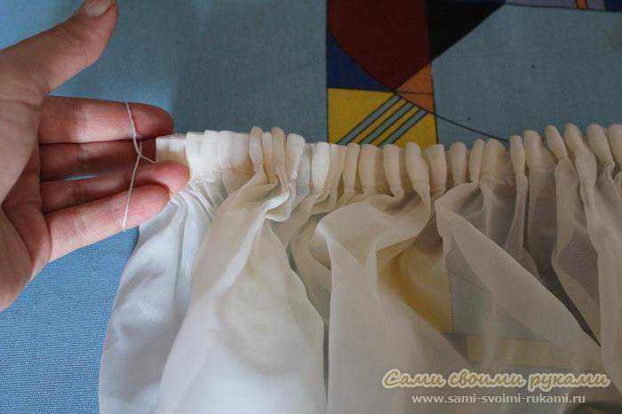 Как пришить своими руками шторную ленту