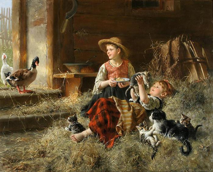 Calling on Farmyard Friends, by Wilhelm Schutze (700x565, 89Kb)