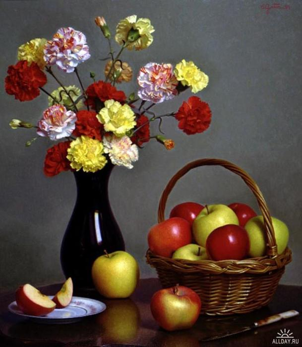 1239937083_carnations_and_apples (609x700, 52Kb)