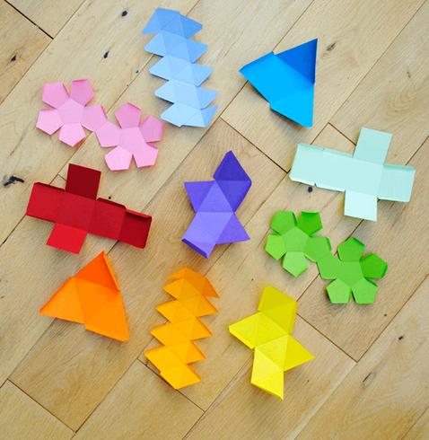 Фигуры из бумаги своими руками схемы шаблоны