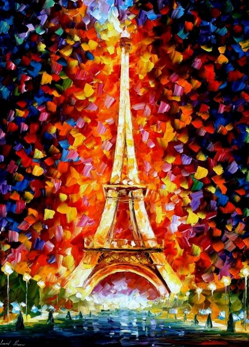 PARIS___EIFEL_TOWER_LIGHTED_by_Leonidafremov (502x700, 349Kb)