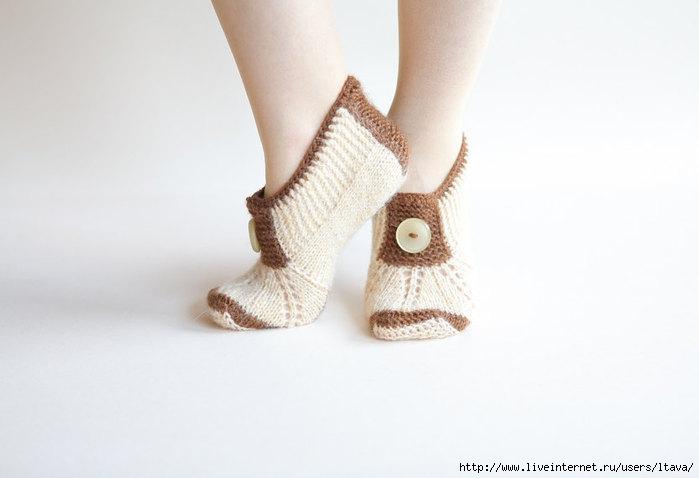 Носки тапочки варежки вязанные