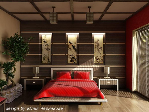 Под этот стиль часто выбирают: бамбук, соломка, а также сизаль и джут.  Веера, икебаны, эффектные бонсай...