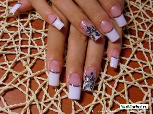 Ногти рисунок на квадратные ногти