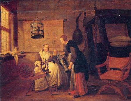 Квирин Герретс ван Брекеленкам-нидерландская живопись Хозяйка и