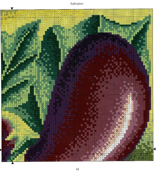 "Вышиванием овощи: артишок, баклажаны, капусту, лук. - МАСТЕРСКАЯ - Журнал ""ПЯТНИЦА"""