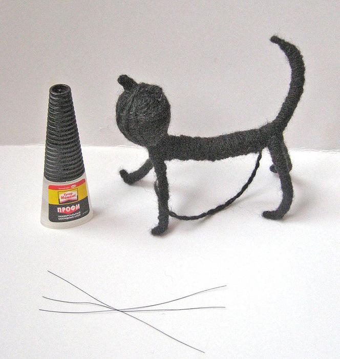Кот из проволоки своими руками 31
