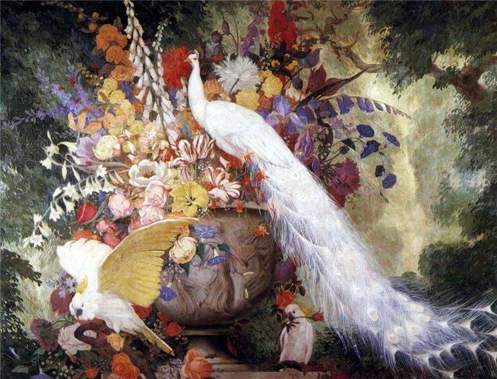 павлин картины художников 8 (700x534, 118Kb)