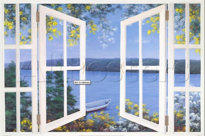 Окно на море фото