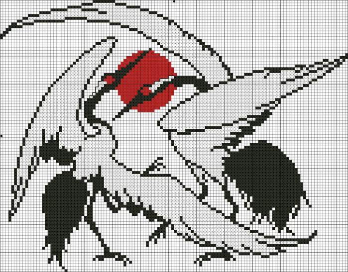 Схема вышивки крестом черно-белая страсть