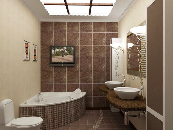 Шоколадная ванная комната фото