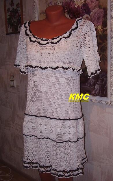 филейное вязание крючком эксклюзив платья схемы.