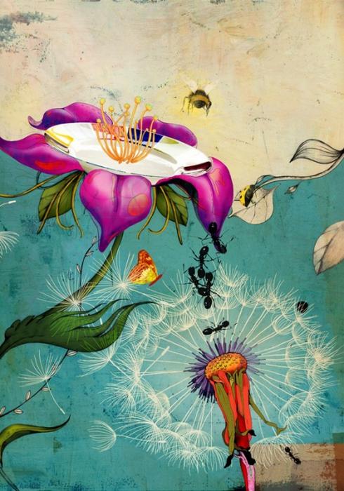 Красочные фэшн иллюстрации Linn Olofsdotter 1 (490x700, 431Kb)