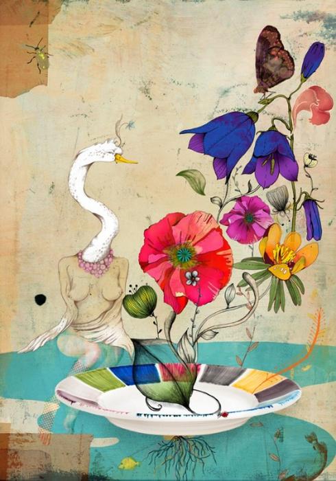 Красочные фэшн иллюстрации Linn Olofsdotter 2 (490x700, 408Kb)