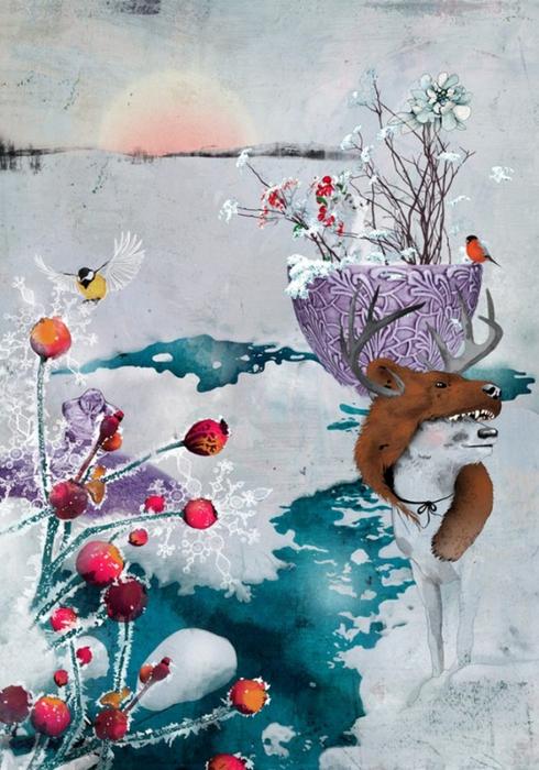 Красочные фэшн иллюстрации Linn Olofsdotter 7 (490x700, 388Kb)