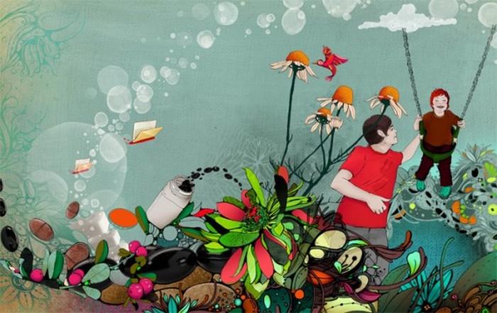Красочные фэшн иллюстрации Linn Olofsdotter 9 (700x441, 96Kb)