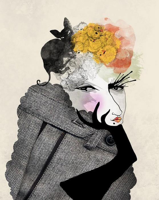 Красочные фэшн иллюстрации Linn Olofsdotter 13 (558x700, 118Kb)