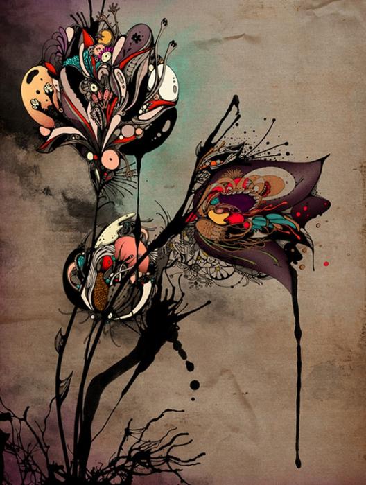 Красочные фэшн иллюстрации Linn Olofsdotter 18 (528x700, 423Kb)