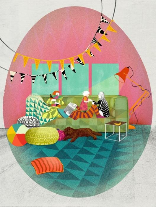 Красочные фэшн иллюстрации Linn Olofsdotter 24 (528x700, 378Kb)
