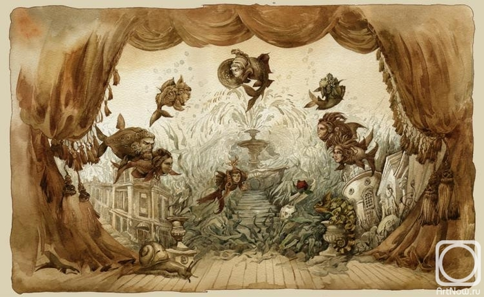 . Античная пьеса в аквариуме (700x430, 245Kb)
