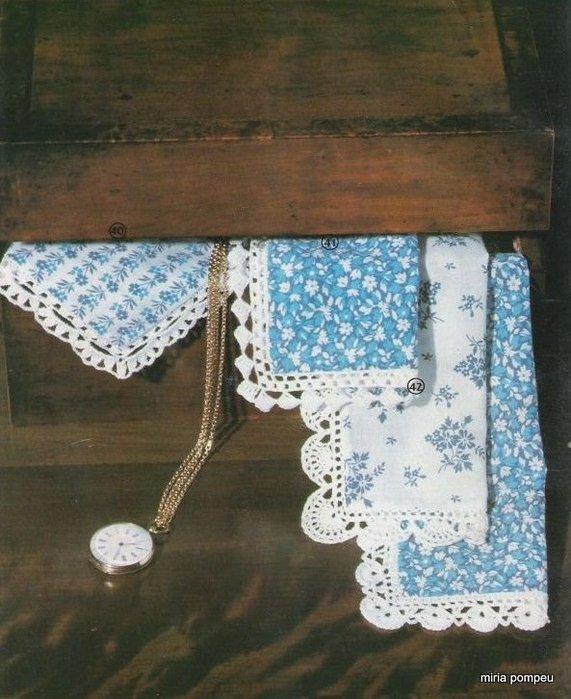 обвязываем носовые платочки.  Arte de Bordar - Croch (21) .