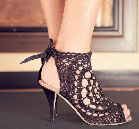 Вязаная обувь (фото)