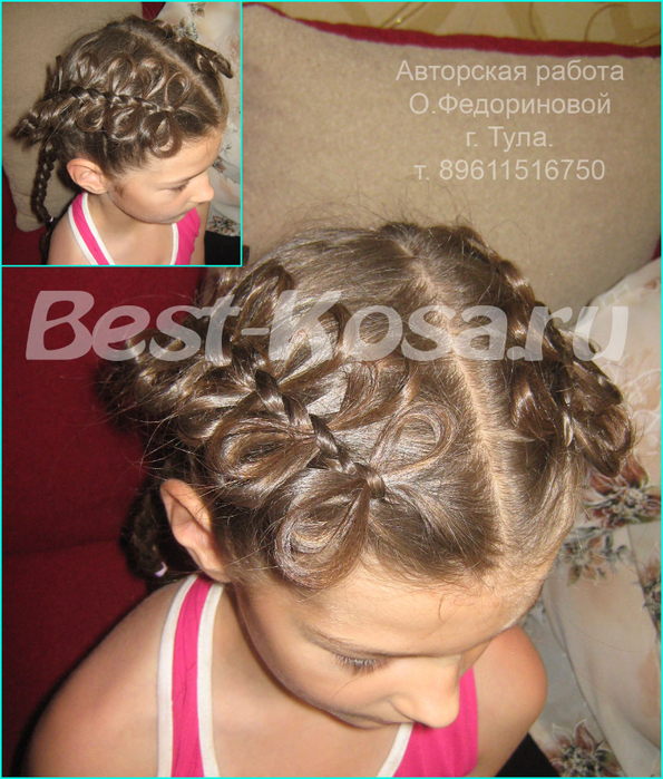 Разделите волосы на две части