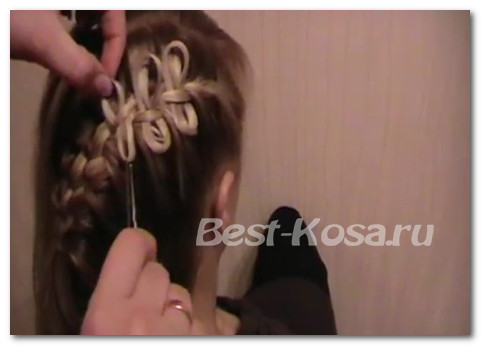 бантик на волосах по схемам