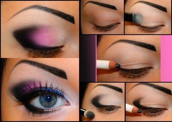 Пошаговый макияж глаз в домашних условиях
