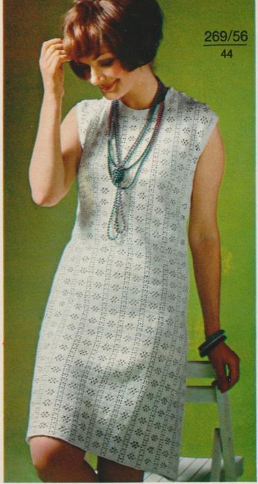 Платье тунисское вязание 10