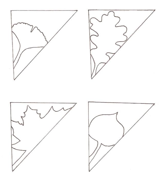 Схема сложения листа бумаги и шаблоны