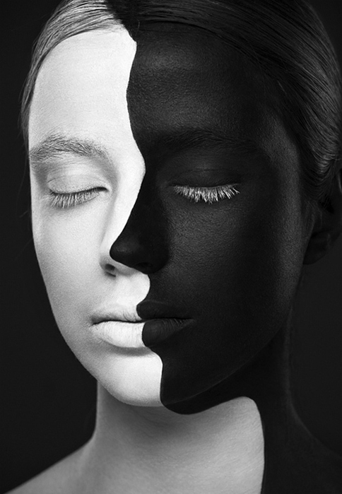 чернобелые лица (484x700, 130Kb)