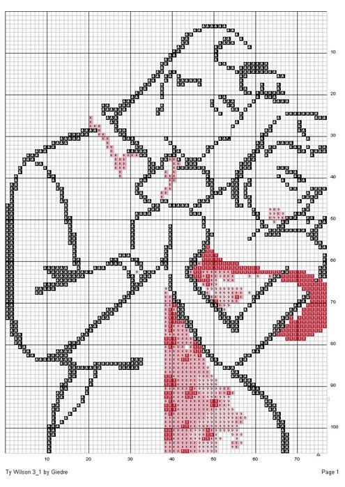 Вышивка крестом пара черно-белые схемы
