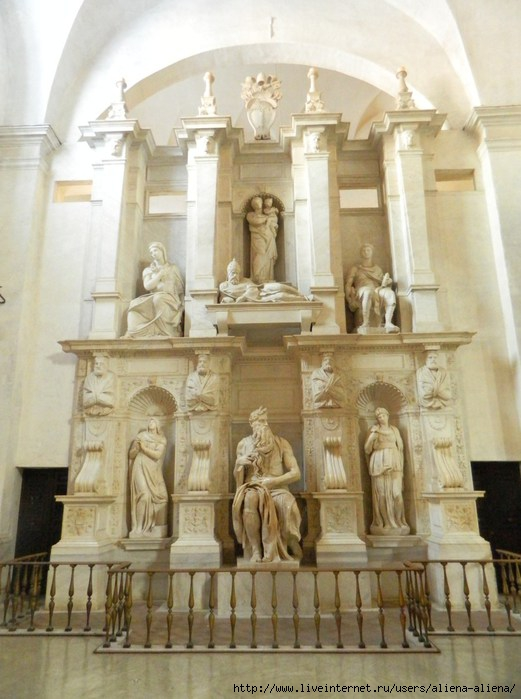 DSCN0427 Моисей. Скульптор Микеланджело. Сан-Пьетро-ин-Винколи (521x700, 183Kb)