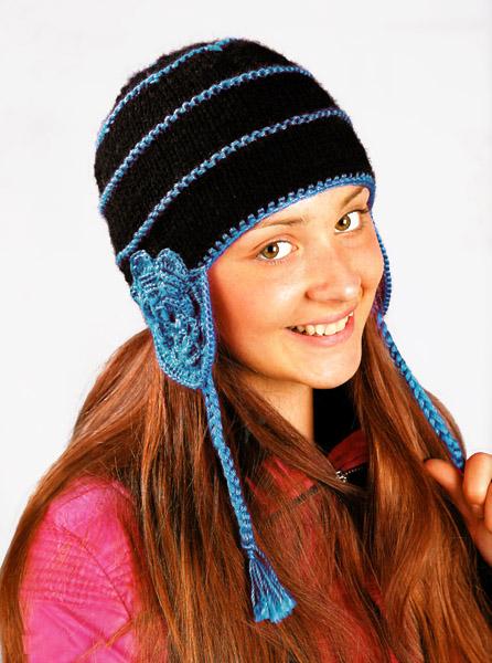 Я обожаю шапки с ушками, поэтому на разработку схемы вязания шапки с ушками у меня ушло совсем немного времени.