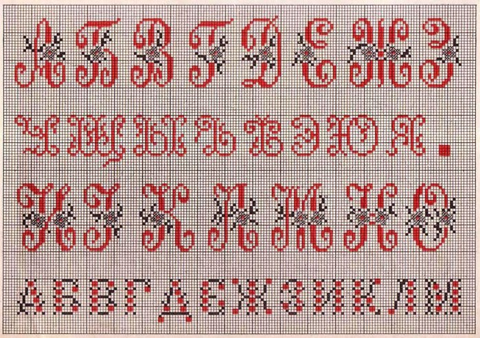 Russian Cross Stitch Alphabets 1_Page_08 (700x492, 166Kb)