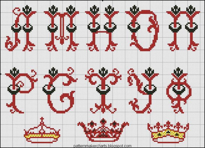 Russian Cross Stitch Alphabets 1 pg 11 (700x507, 189Kb)
