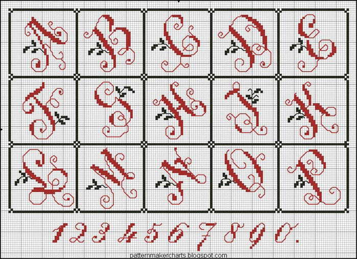 Russian Cross Stitch Alphabets 1 pg 13 (700x506, 193Kb)