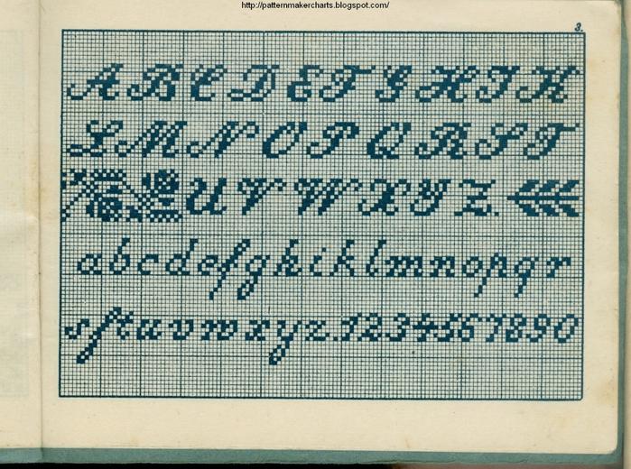 Alphabete u. Muster zum Waschezeichnen und Sticken iii -03 (700x520, 355Kb)