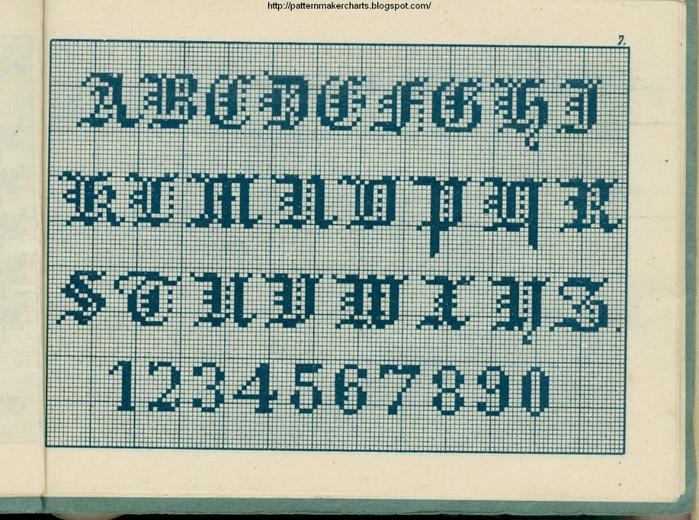 Alphabete u. Muster zum Waschezeichnen und Sticken iii -07 (700x520, 346Kb)