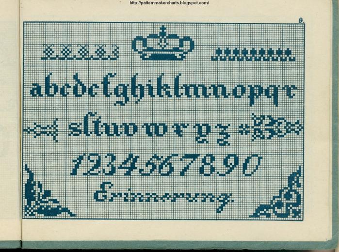 Alphabete u. Muster zum Waschezeichnen und Sticken iii -09 (700x520, 348Kb)