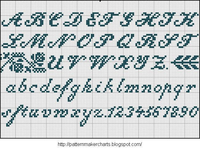 Alphabete u. Muster zum Waschezeichnen und Sticken iii 03 (650x487, 128Kb)