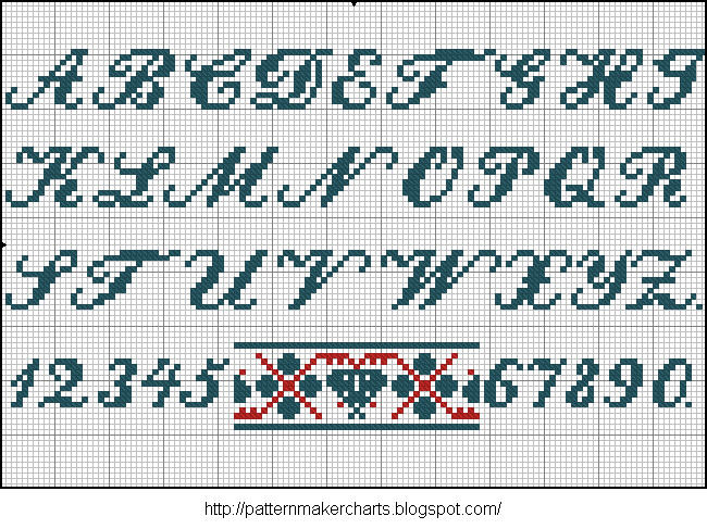 Alphabete u. Muster zum Waschezeichnen und Sticken iii 05 (650x487, 126Kb)