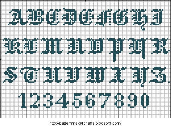 Alphabete u. Muster zum Waschezeichnen und Sticken iii 07 (650x487, 124Kb)