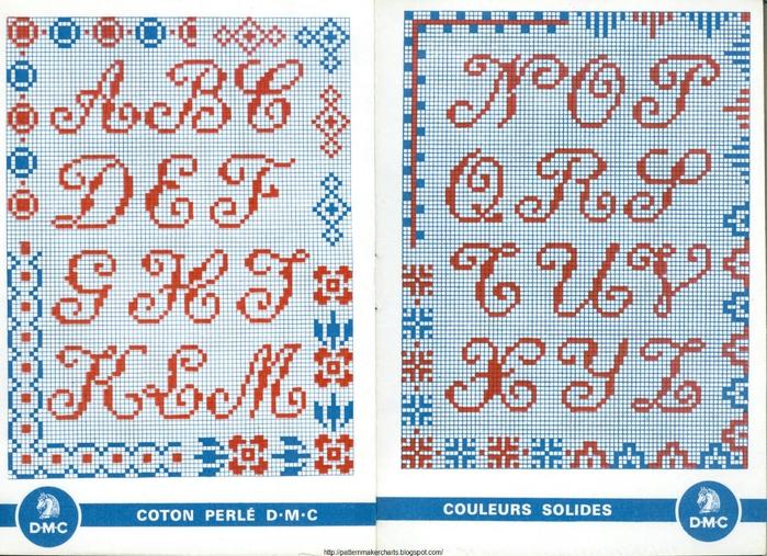 Alphabets et Motifs au Point de Croix N° 4 4 (700x507, 374Kb)